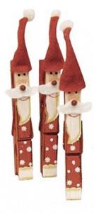 Papá Noel con pinzas