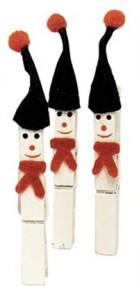 Muñeco de nieve DIY con pinzas