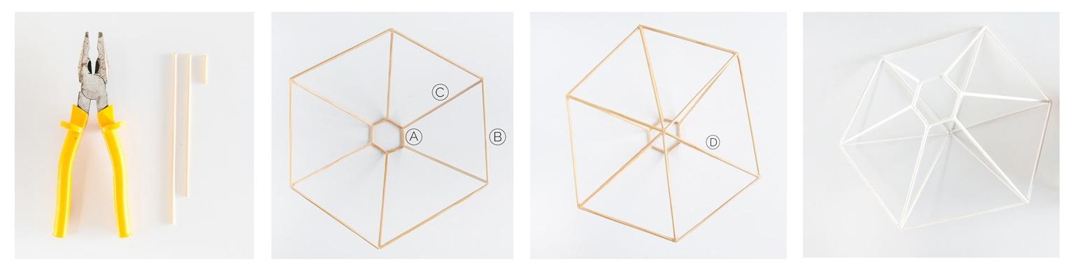 lámpara geométrica