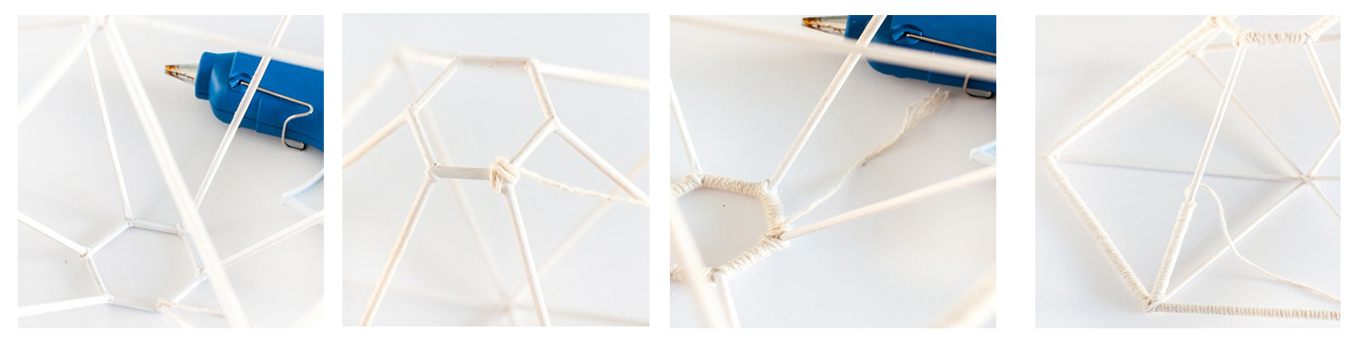 lámpara diy geometrica