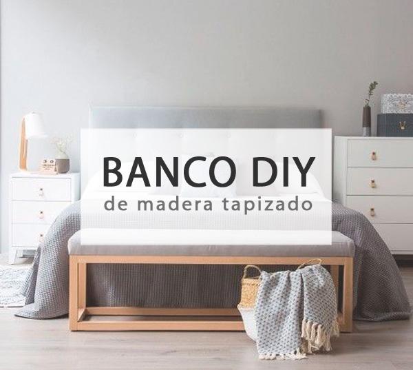 Banco de madera DIY tapizado