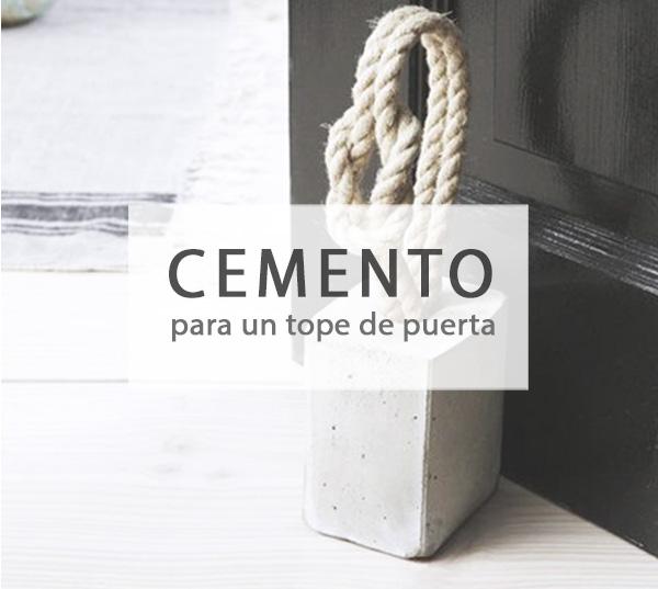 Tope para puerta con cemento