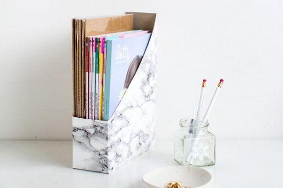 organizador con caja de cereales