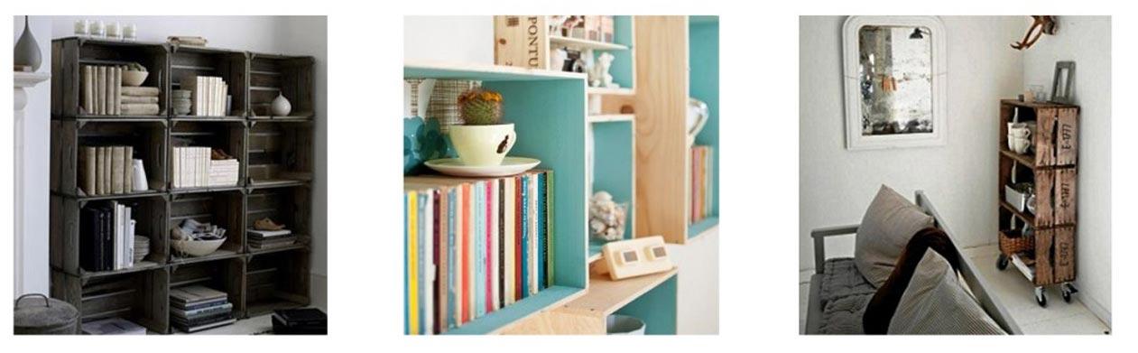 estanteria cajas de madera