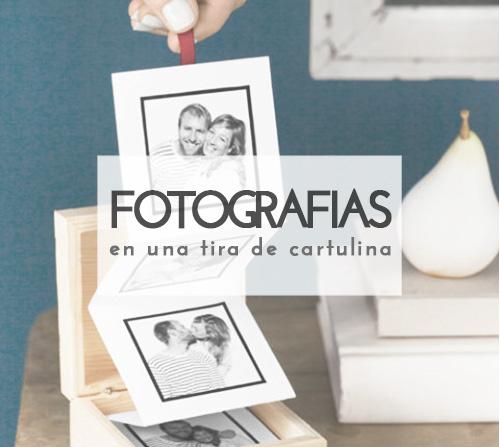 Tira fotográfica DIY en una cajita