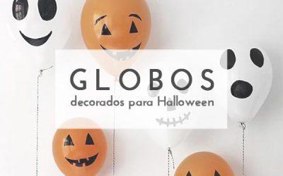 Fantasmas con con globos para decorar en Halloween