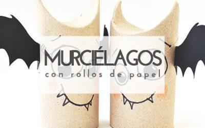 Murciélagos DIY con rollos de papel higiénico