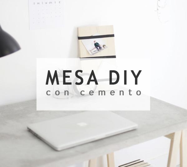 Mesa de cemento DIY