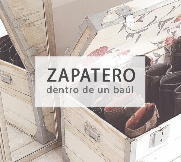 Convertir un baúl en zapatero