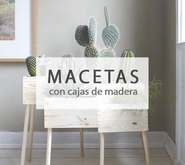 Macetas DIY con cajas de madera