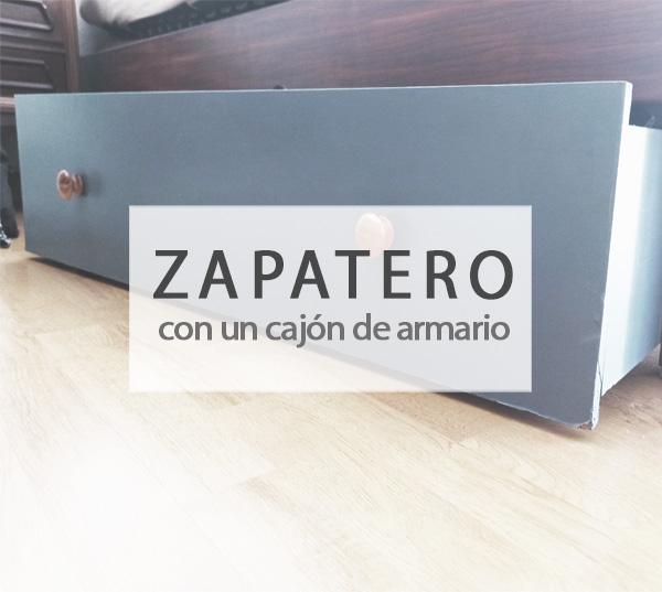 Zapatero con un cajón antiguo