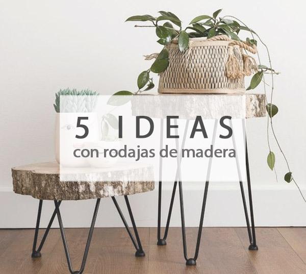 5 ideas con rodajas de madera muy decorativas