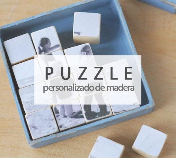 Puzzle personalizado con madera