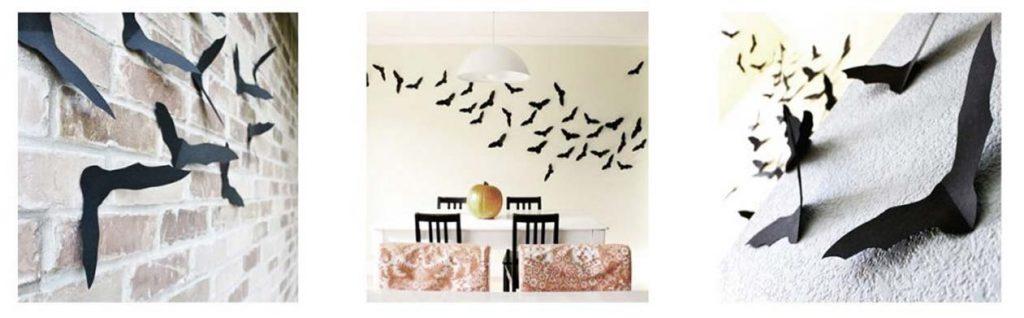 decorar pared con murciélagos