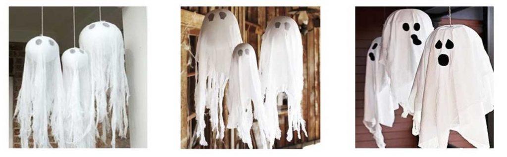 Fantasmas con globos